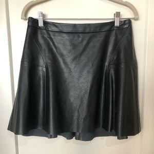 Sam Edelman Faux Leather Mini Skirt w/ Ruffle